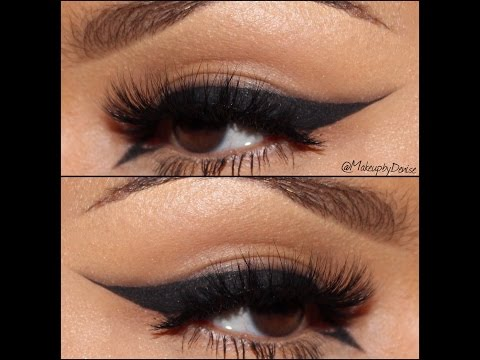 One Minute Tutorial: Smokey Winged Liner  | DeniseAsiAm