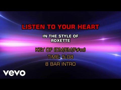 Roxette - Listen To Your Heart (Karaoke)