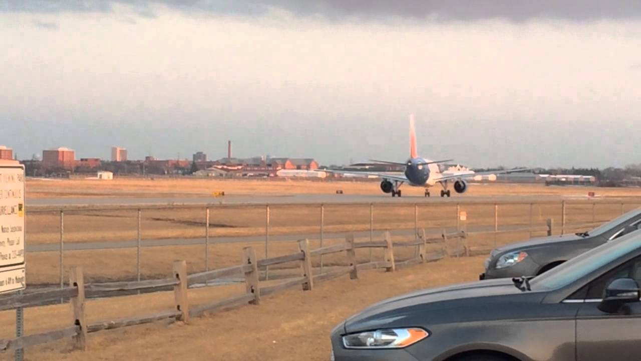 Allegiant Airlines Airbus A319 Sunset Departure Youtube