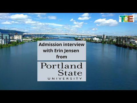 College admissions interview with Erin Jensen from Portland State University.