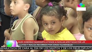 Multinoticias | Gobierno Sandinista atiende a familias afectadas por lluvias en Managua