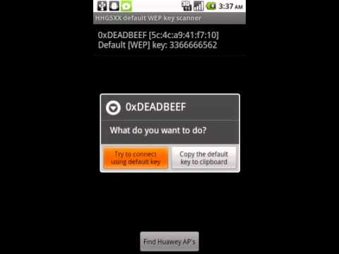 android for wep keygen