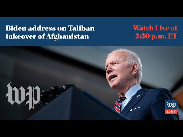 Biden addresses nation on Taliban takeover of Afghanistan - 8/16 (FULL LIVE STREAM)