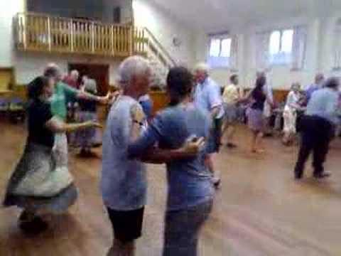 Andrea calling a dance at St. Mary's church - Hokitika, NZ
