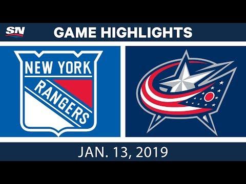 NHL Highlights | Rangers vs. Blue Jackets - Jan. 13, 2019