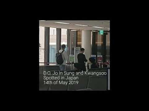 Spotted In Japan 14052019 D.O Doh Kyung Soo, Jo In Sung And Kwangsoo