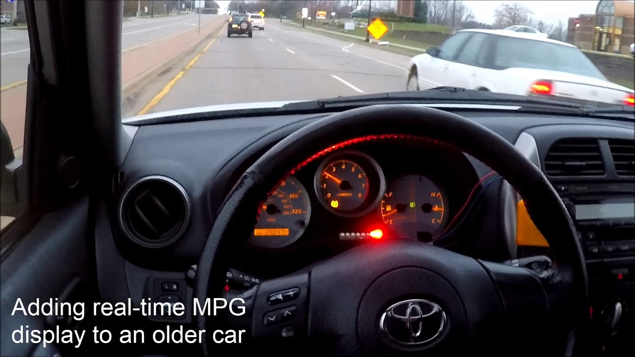 Real-time MPG display on an older car | Macchina