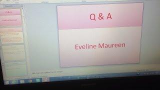 Eveline Maureen Q & A (antwoorden op meest gestelde vragen :-)