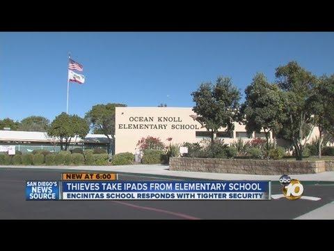 Burglars break into Ocean Knoll Elementary School in Encinitas, steal 5 iPads