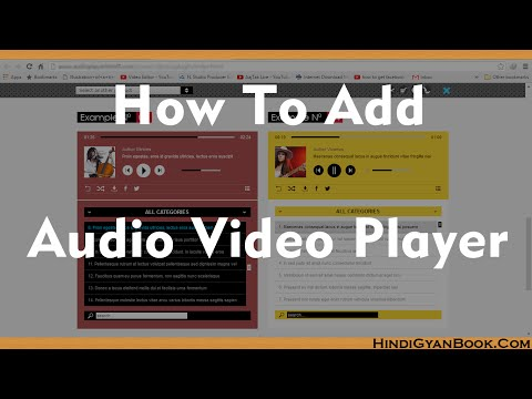 How to Add Audio Video Player Into Website (Wordpress)