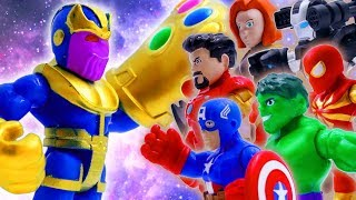 Toys Play Time Avengers vs THANOS Infinity War Toy Short Action Movie For Kids Marvel Story 2018