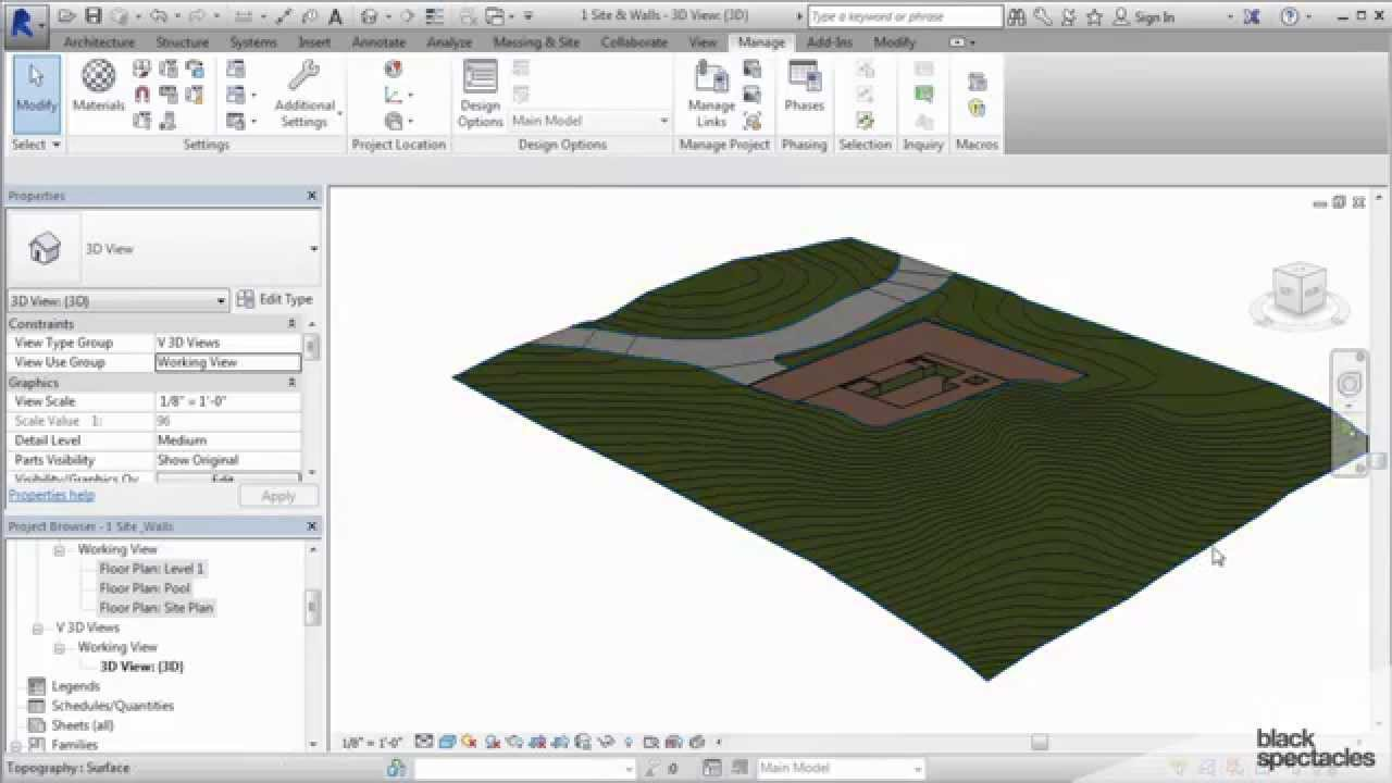 Revit 2015 Tutorial Creating Topography With The