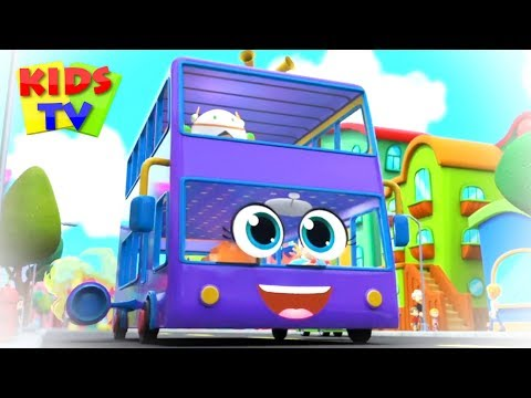 wheels-on-the-bus-go-round-and-round- -kindergarten-nursery-rhymes-&-kids-songs- -super-supremes