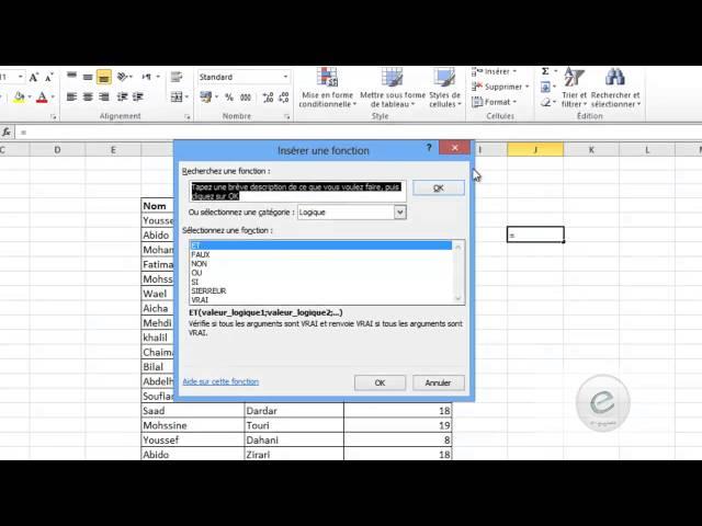 17 MS Excel : La Fonction Si