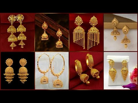 Download Exclusive Gold jhumka earrings Desgin // gold earrings Desgin