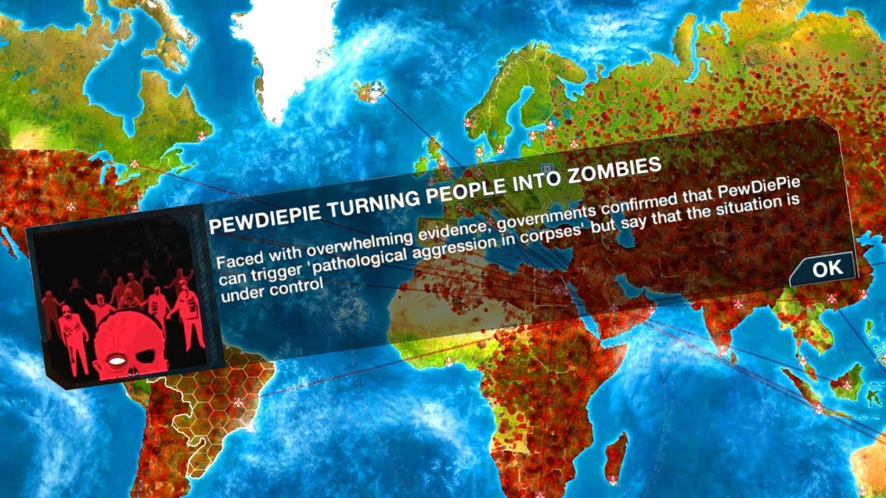 Pewdiepies Zombie Horde Takes Over The World In Plague Inc