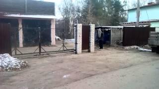 Автоматические откатные ворота в Смоленске(Откатные ворота из профлиста с автоматикой Doorhan Sliding 800., 2015-11-27T19:24:08.000Z)