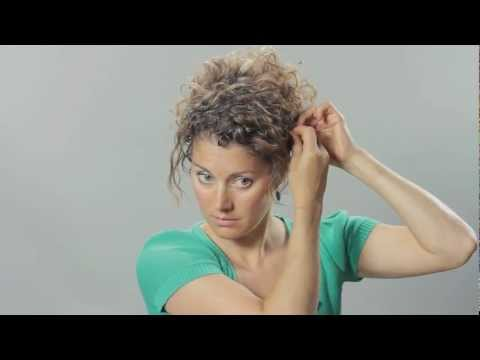 Curly Hair Updo Hair Tutorial 2018