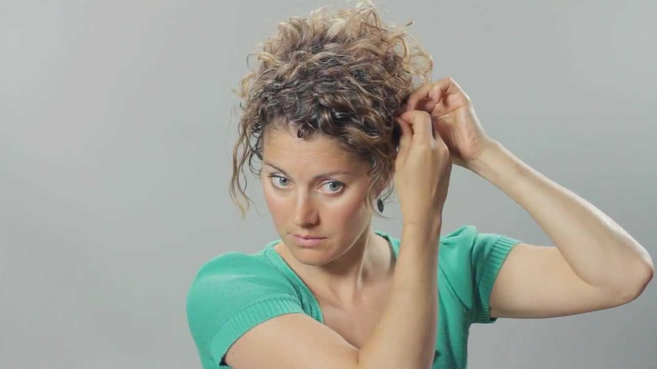 curly hair updo - hair tutorial - tasha arnall - youtube