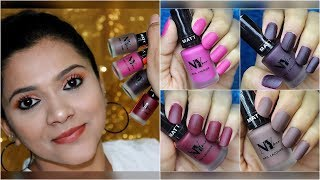 *NEW* NY BAE MATTE NAIL LACQUERS REVIEW & SWATCHES   AFFORDABLE MATTE NAIL PAINTS   Pavithra iyer
