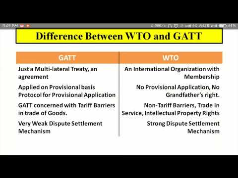 Different between WTO and GAAT