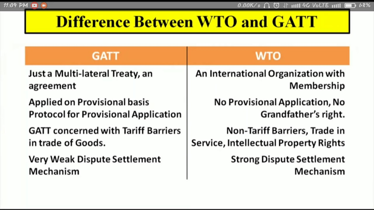 Different Between Wto And Gaat Youtube