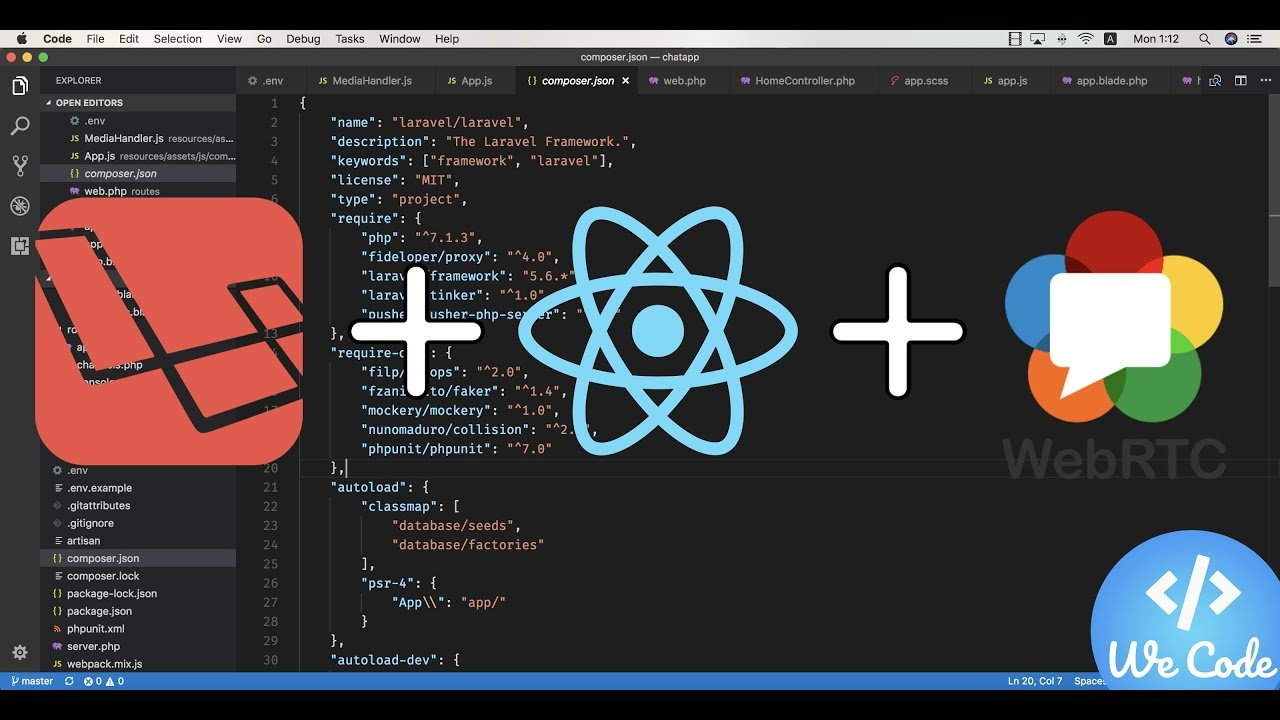 Create a video Chat Application with Laravel & ReactJS (based on WebRTC) -  E02