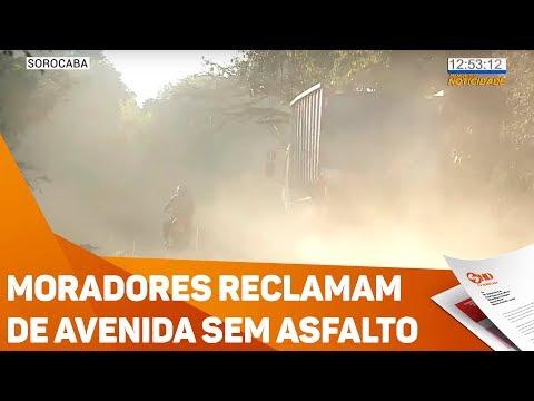 Moradores reclamam de avenida sem asfalto - TV SOROCABA/SBT