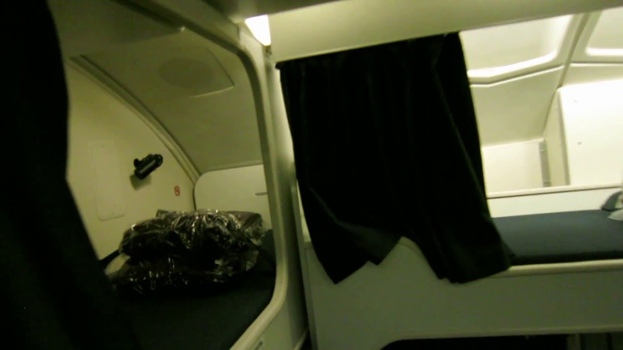 hight resolution of secret crew rest area qantas boeing 747