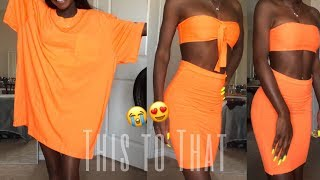 DIY CLOTHING TRANSFORMATION FOR BEGINNERS