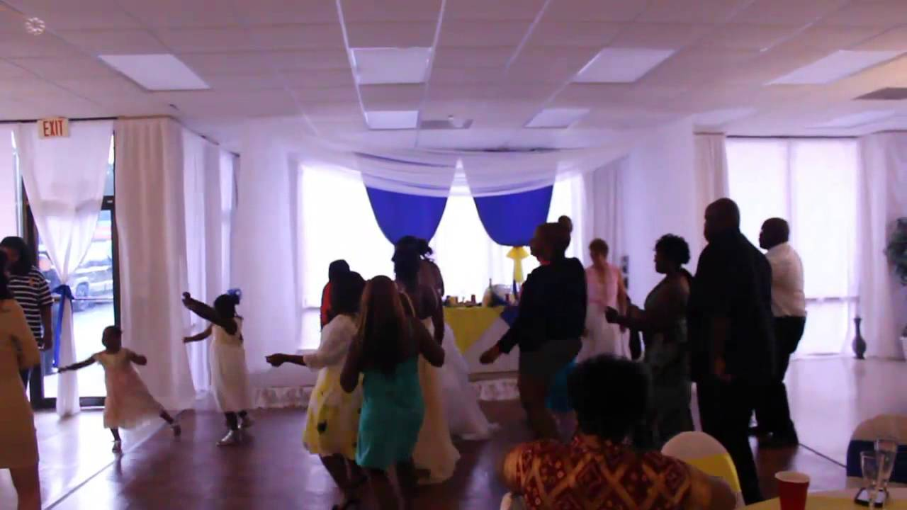Wedding at All Events Hall (Blue and Yellow Theme) - YouTube