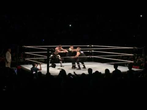Sami Zayn & Kevin Owens TEAM UP on Jinder Mahal and Singh Brothers @ WWE Montreal
