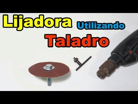 Lijadora Utilizando Taladro | Como Hacer Accesorio Casero Para Taladro