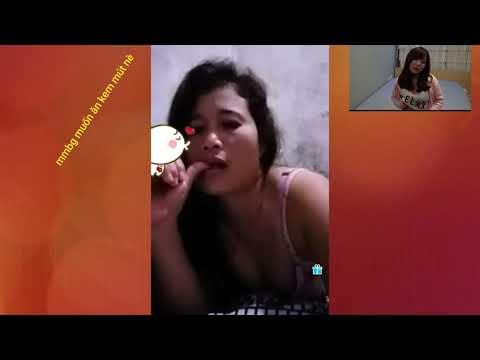 IMO video call    video chat    mbbg ăn kem mút phê