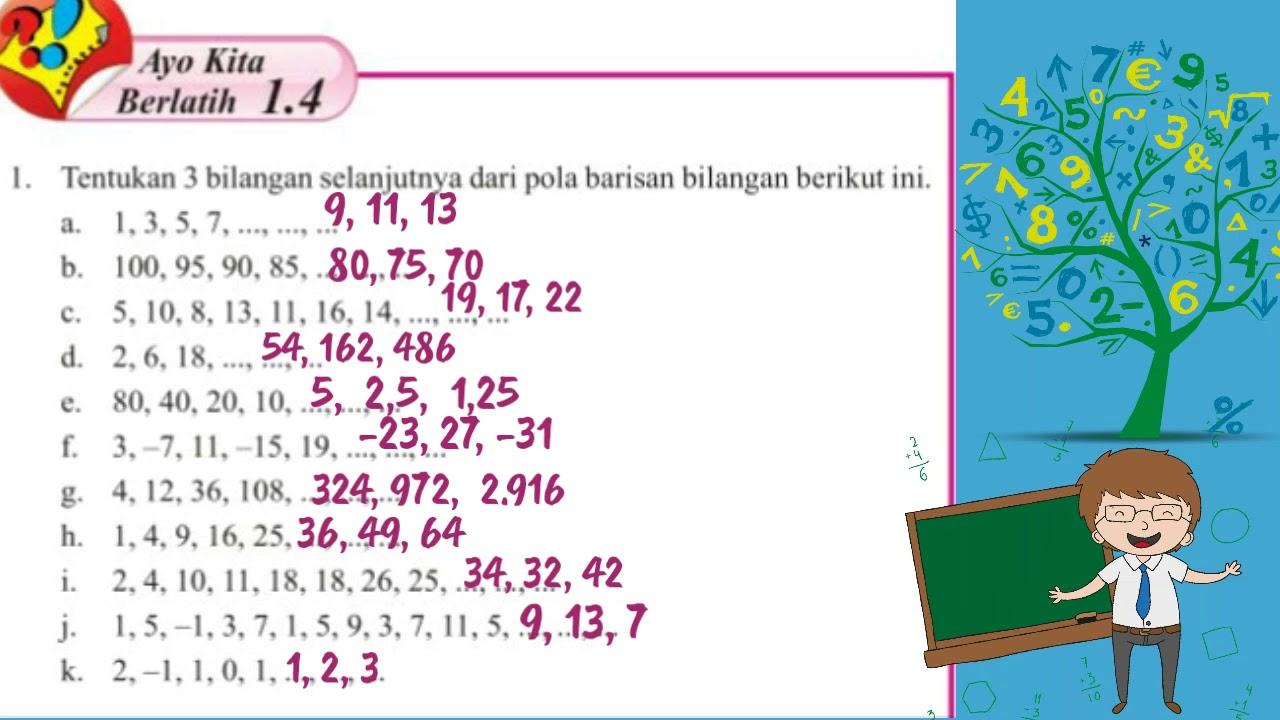 Kunci Jawaban Buku Paket Mtk Smp Kls Viii 8 Hal 22 Youtube
