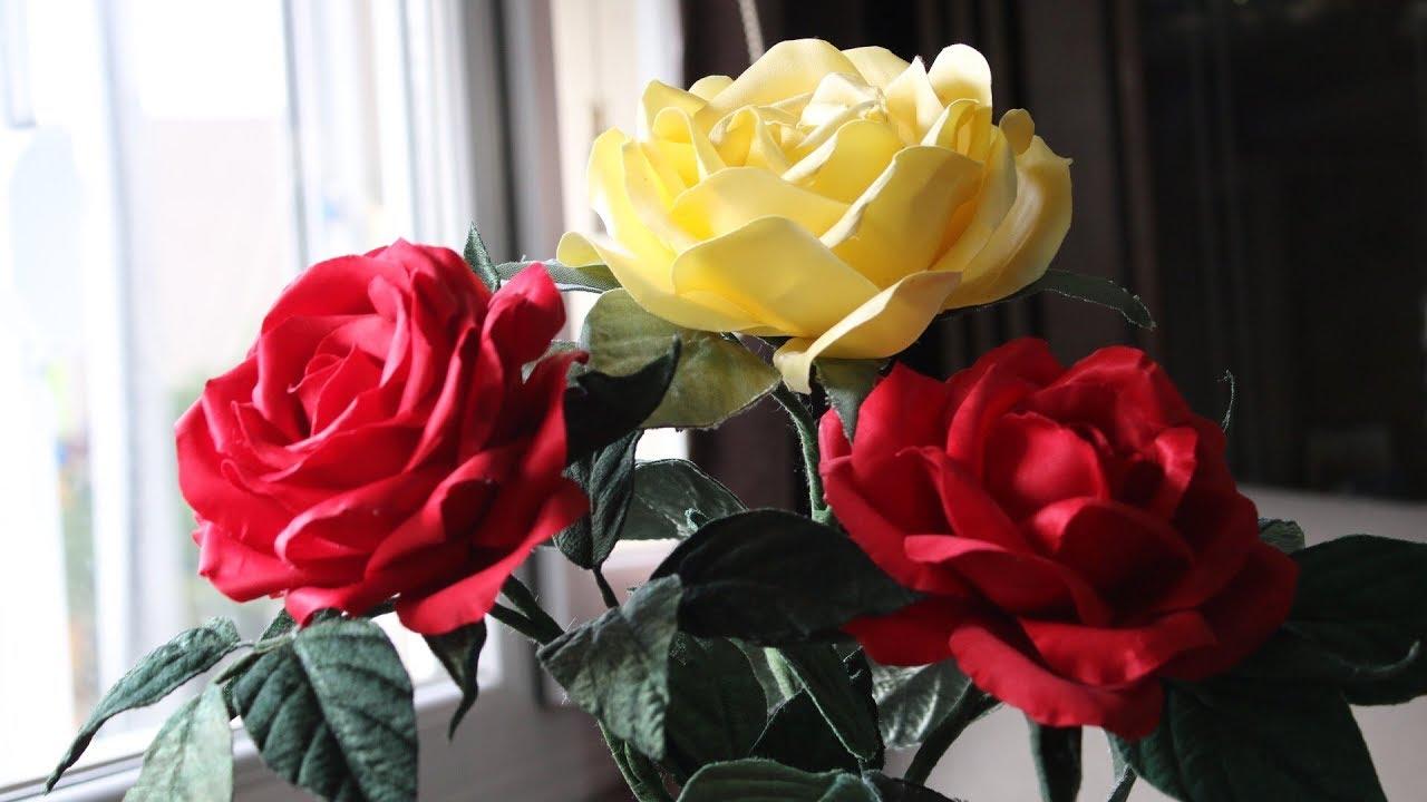Kumaş çiçek Yapimikumaş Kolalama Ve Boyama En Gerçekçi Yapım Youtube