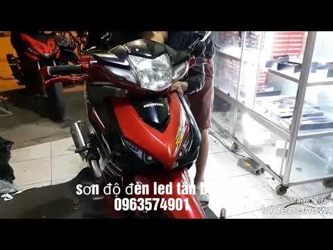 Wave RSX 2010 độ Mắc Cú Audi Tại Sơn độ đèn Led Tân Bình.