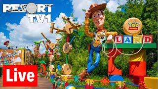 🔴Live: Disney's Hollywood Studios Live Stream - 7-27-18 - Fantasmic, Toy Story Land & More!