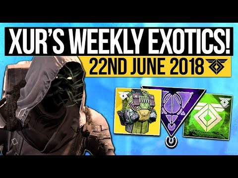 Destiny 2 | XUR LOCATION & DLC EXOTICS! - Exotic Weapon, Armor Inventory & More (22nd June)