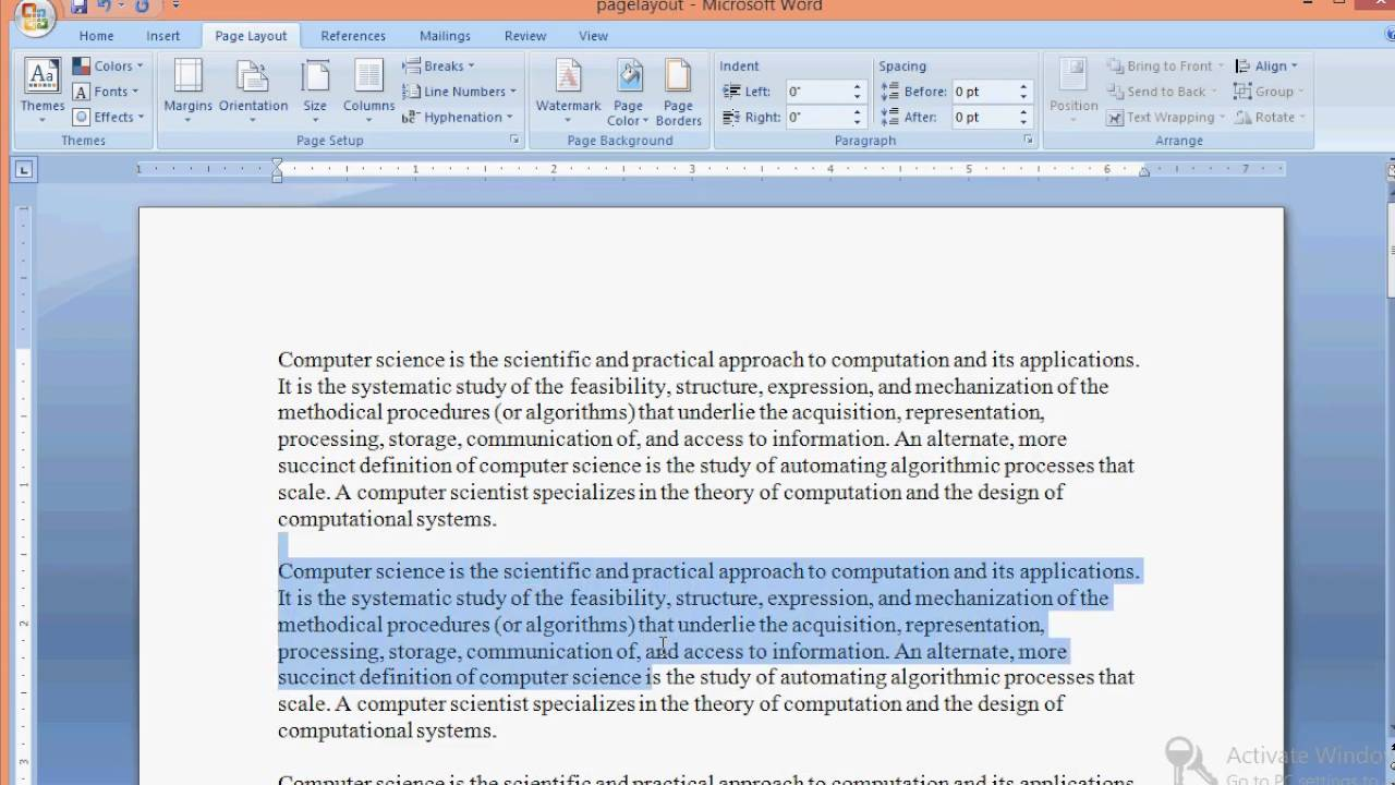 Where is the hyphenation in Word 2007