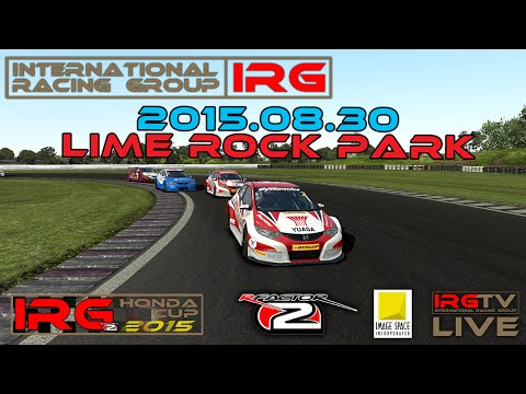 [rFactor 2] 60 FPS - Live Stream - IRG Honda Cup 2015 - Round 3 - Lime Rock Park - Full Race