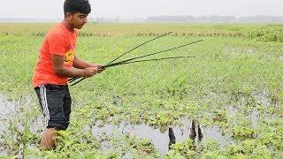 Fishing:- বড়শি দিয়ে মাগুর মাছ শিকার।Catching cat fish by snail top//Рыбалка Видео