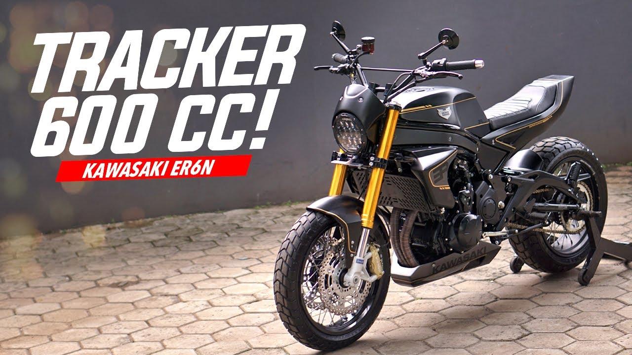 Custom Kawasaki ER6 Jadi Tracker #AtenxKatros