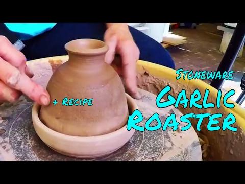 Garlic Roaster + Larapin Recipe for Roasting Garlic!    Throwing/Pottery/Wheel/Ceramic/Making/Clay