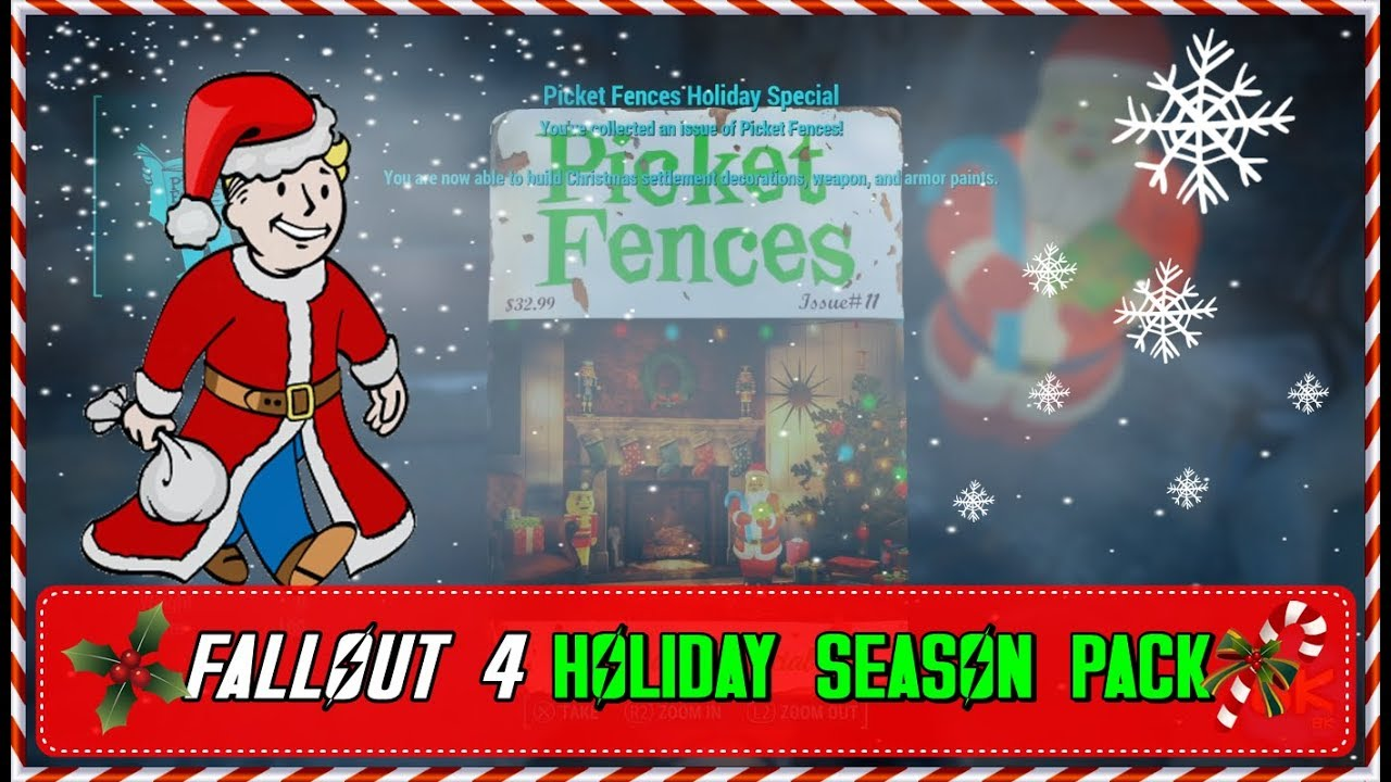 Picket Fences Christmas Workshop Pack Fallout 4 Creation Club Youtube