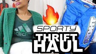 🔥Sporty Thrift Haul + Bonus DIY Turn a T-shirt into a Tank Top | BlueprintDIY