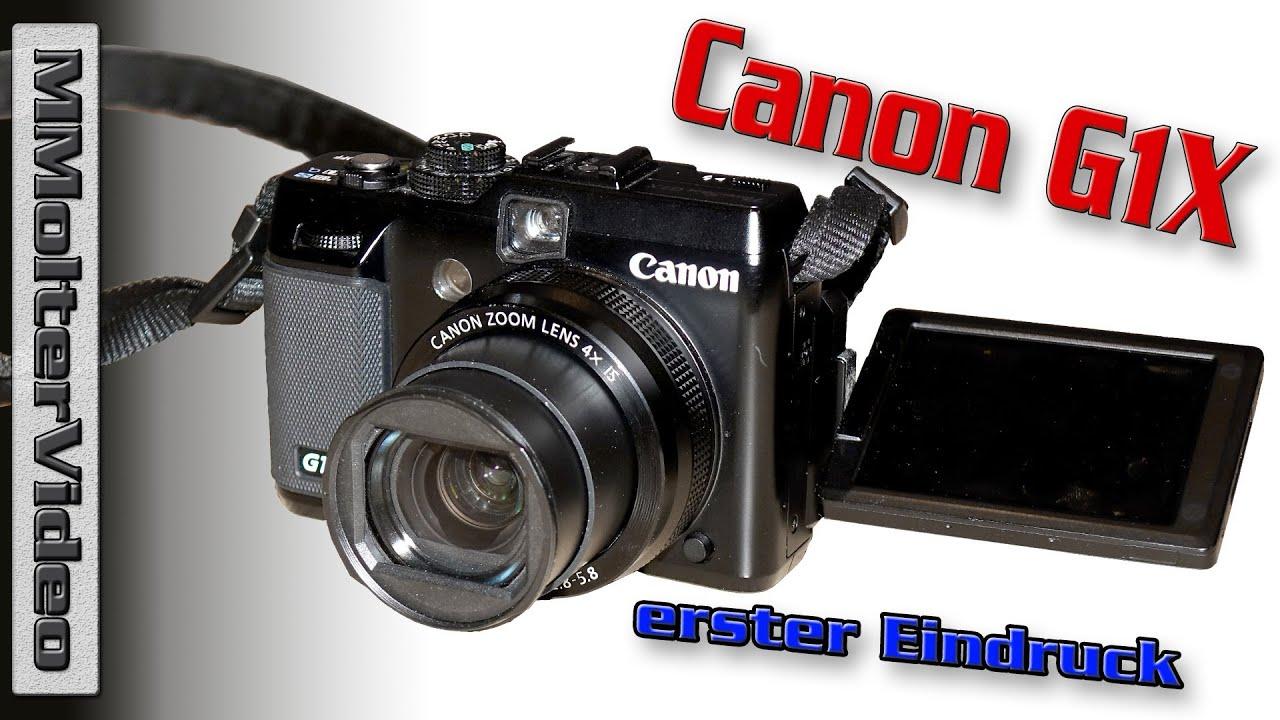 Canon G1X erster Eindruck der Kompaktkamera mit großem Sensor von MMolterVideo