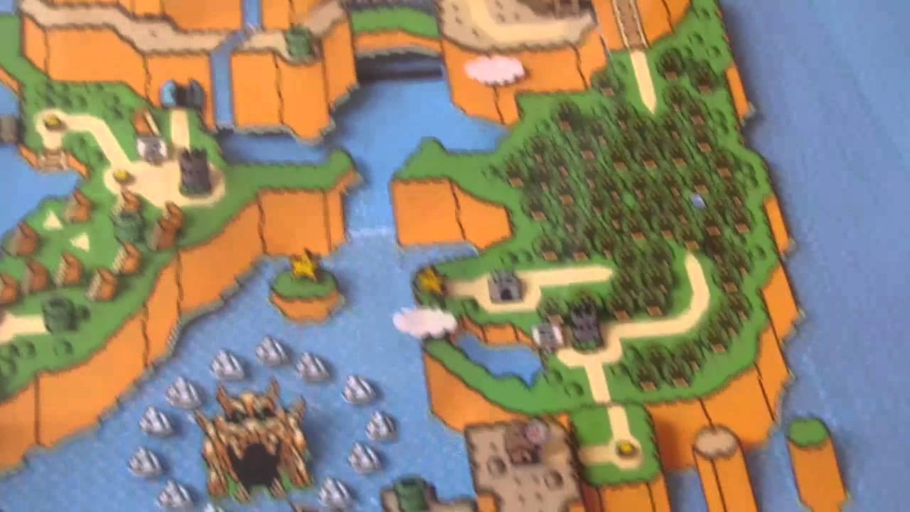 Super Mario World Map 3D paper diorama