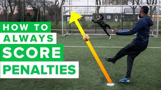 HOW TO ALWAYS SCORE PENALTIES | Penalty kick tutorial