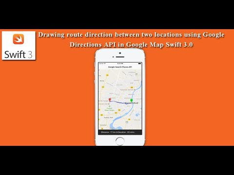 Drawing route direction between two locations using Google Map Swift on